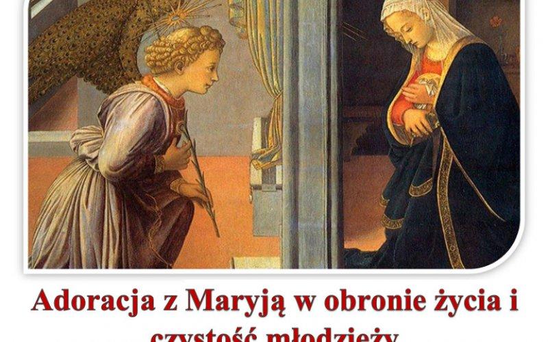 Adorācija kopā ar Mariju par mūsu jaunatnes šķīstību un nedzimušajiem bērniem